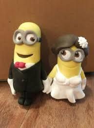 edible fondant minion inspired wedding cake topper cakepins com