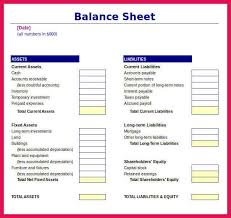 balance sheet template excel sop examples
