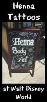 henna tattoos at walt disney world