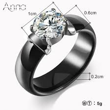 ceramic wedding bands a amp n new arrival ceramic rings for women zircon cabochon