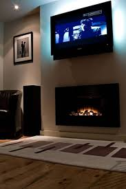 wall mounted electric fireplace under tv wall decoration ideas