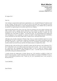 Cover Letter For Technician Mechanical Technician Cover Letter Automobile Mechanic Cover Letter