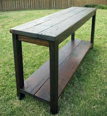 salvaged wood console table furniture rectangle reclaimed wood console table brown finish for