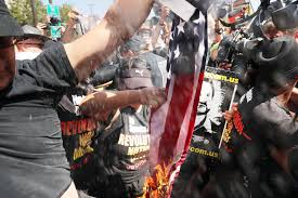 Burning Red Flag 17 Arrested After Protests Flag Burning At Rnc In Cleveland Fox 61