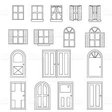 simple doors and windows stock vector art 477342562 istock