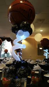 basketball centerpieces basketball bar mitzvah balloon decoration in maryland dc and