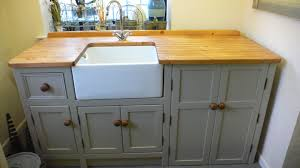 belfast sink unit with cupboard space for a freestanding