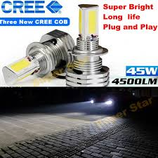 led replacement light bulbs for cars 1 x h4 9003 hb2 hi lo 4500lm 6000k white for cree chips led replace
