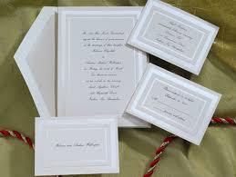 wedding invitation set pearl border birchcraft wedding invitations sets