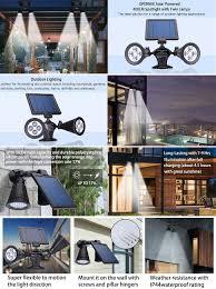 The Landscape Lighting Book Rd Edition - solar lights outdoor waterproof double spotlights wireless solar