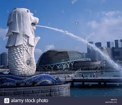singapore lion singapore south east asia merlion lion park water statue