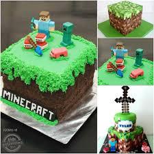 minecraft birthday cakes