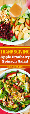 apple cranberry spinach salad with balsamic vinaigrette recipe