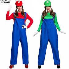Mario Womens Halloween Costume Luigi Halloween Costume Halloween Costumes