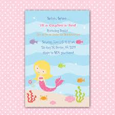 free printable little mermaid birthday invitations free