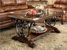 Wood And Metal Coffee Table Decorating Attractive Wrought Iron Coffee Table Make Classy Your