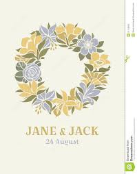 Wedding Design Wedding Design With Floral Wreath Stock Photography Image 31143942