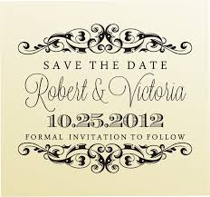 save the date st clear block rubber st modern