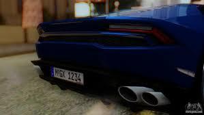 Lamborghini Huracan Back View - lamborghini huracan 2015 for gta san andreas