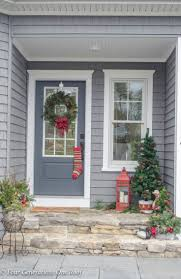 Christmas Front Door Decorations Ideas Pretty Christmas Garland Greens Front Door Four Generations