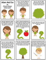 free adam and eve mini booklet printable for kids in sunday