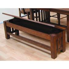 Dining Bench With Storage A America Laurelhurst Storage Dining Bench Mission Oak Hayneedle