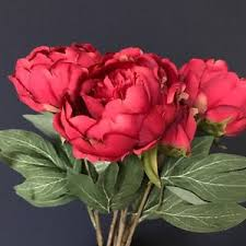faux peonies bunch of faux silk peonies artificial silk flowers peony