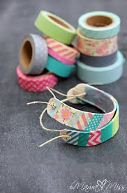 how to make washi tape wooden bracelets diy u0026 crafts handimania