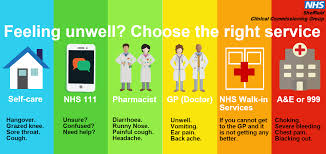 feeling unwell choose the right service