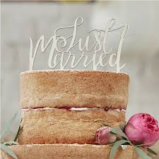 b cake topper just married wooden cake topper boho