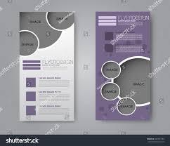 vector flyer leaflet design set two stock vector 407351380