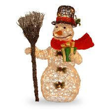 Discount Outdoor Christmas Decorations by Snowman Christmas Decoration With Clear Lights Archives