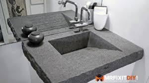 Diy Vanity Top Bathroom Vanity Sanding Concrete Countertops Gray Bathroom