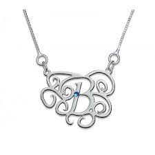 monogram necklaces silver monogram necklaces