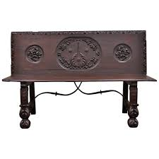 Wrought Iron Benches For Sale 17th Century English Renaissance Carved Oak And Wrought Iron Bench