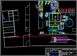 factory layout design autocad recuperating oil plant dwg autocad drawing 3d