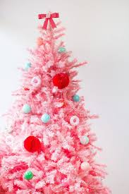 pink christmas tree 9 ultra chic monochromatic christmas tree decorating ideas brit co
