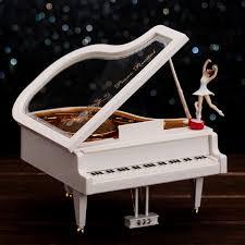 piano music box rotating ballet girls lovers christmas gifts