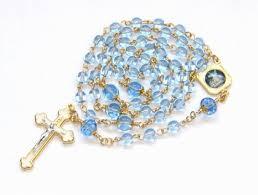 baptism rosary white blue gold baptism rosary handmade felt