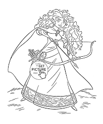 brave princess merida coloring page for kids disney princess