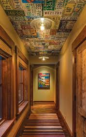 license plates on the ceiling for the home pinterest license