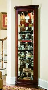 cherry curio cabinets cheap auberge curved corner curio cabinet in cherry cristaleira
