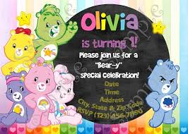 care bears birthday party invitation care bears birthday party
