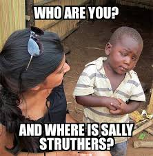 Who Are You Meme - skeptical third world child who are you and where is sally