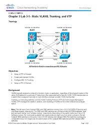 ccnpv7 1 switch lab3 1 vlan trunk vtp student 1 network switch