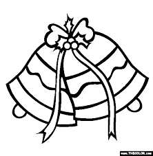 christmas silver jingle bells coloring crafts