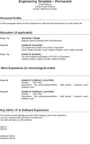 Electrical Engineering Resume Template Download Engineering Cv Template For Free Formtemplate