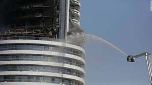 dubai hotel flames shoot out of address hotel cnn
