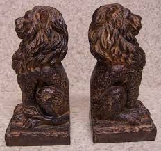 lion bookends directory inventory book ends elk