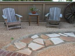 front yard xeriscape ideas flagstone pavers smooth round